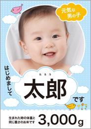 雲の上赤ちゃんブルー