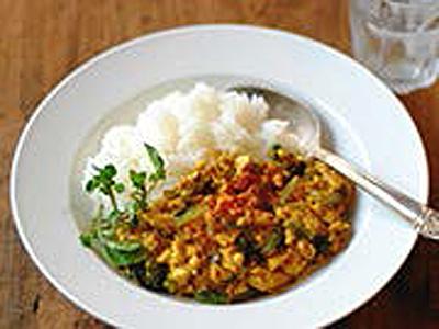 お豆腐のキーマカレー