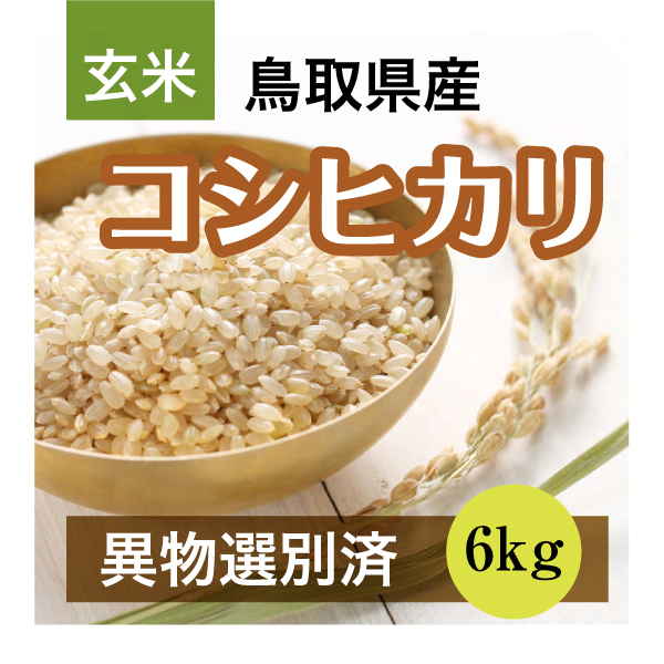 平成30年産コシヒカリ 6kg 玄米(鳥取県産)